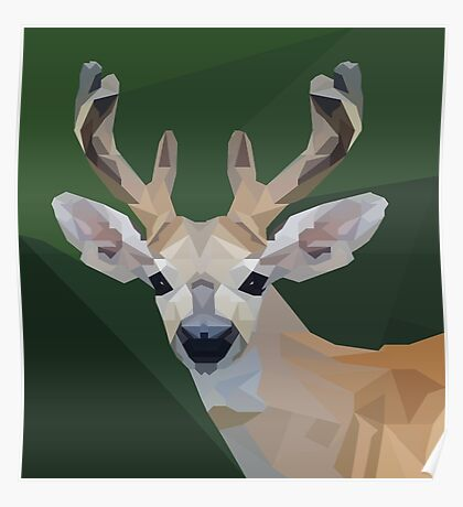 Minimalist Deer- King of the Forest Poster