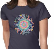 Color Celebration Mandala Womens Fitted T-Shirt