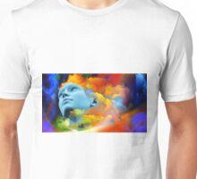 face in the atmosphere digital art Unisex T-Shirt