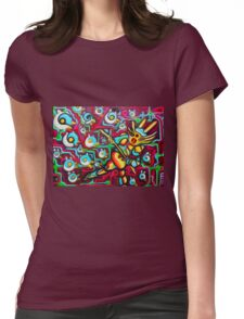 Bird Runner Original Fantasy Artwork By JOse Juarez Womens Fitted T-Shirt