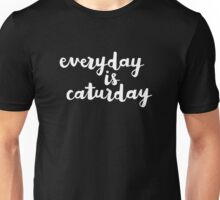 Caturday | Hand Lettered  Unisex T-Shirt