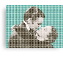 Gone With The Wind - Blue Canvas Print