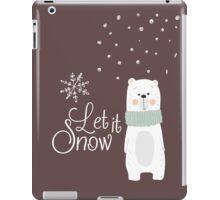 Let It Snow Bear Grey iPad Case/Skin