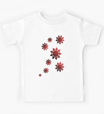 The Decorative Stars on the different backgrounds Kids Tee