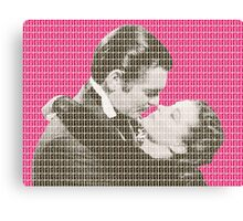 Gone With The Wind - Pink Canvas Print
