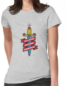 Jiu-Jitsu before dishonor Womens Fitted T-Shirt