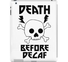 Death Before Decaf Metal Skull iPad Case/Skin