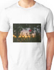 Poppy Flower in Field Unisex T-Shirt