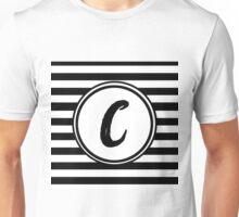 C Striped Monogram Unisex T-Shirt