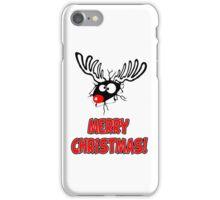 Merry Xmas - Reindeer Cartoon iPhone Case/Skin