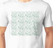 Butterfly Montage, Green Unisex T-Shirt