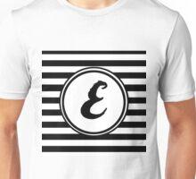 E Striped Monogram Unisex T-Shirt