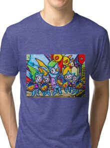 BUNNY WARRIORS  Tri-blend T-Shirt