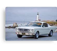 1965 Ford Mustang 2 + 2 Fastback Canvas Print