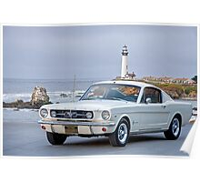 1965 Ford Mustang 2 + 2 Fastback Poster
