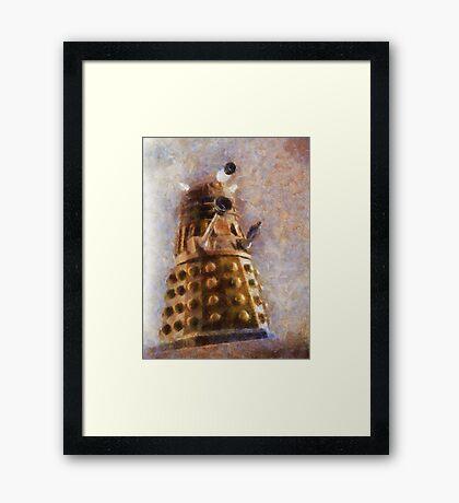Dalek Flies! Framed Print