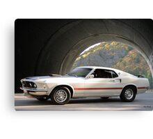 1969 Ford Mustang Mach I Fastback Canvas Print