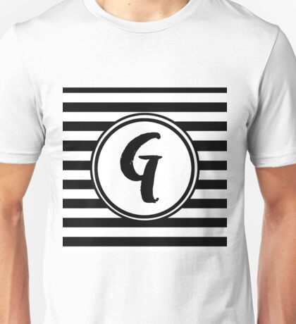 G Striped Monogram Unisex T-Shirt