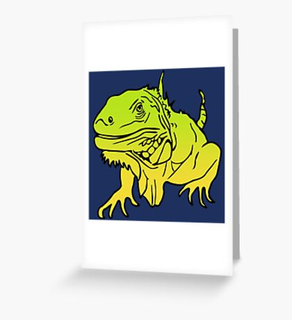 Iguana - Leguan Reptile Greeting Card