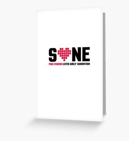 SNSD SONE Greeting Card