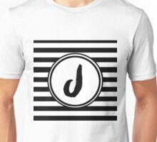 J Striped Monogram Unisex T-Shirt