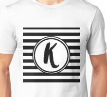K Striped Monogram Unisex T-Shirt