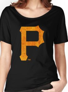 °BASEBALL° Pittsburgh Pirates Rust Logo Women's Relaxed Fit T-Shirt
