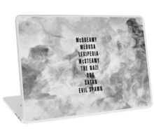 GREY'S ANATOMY mcNICKNAMES Laptop Skin