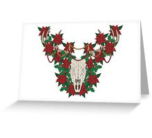 Christmas Stag Skull Greeting Card