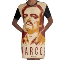 narcos Graphic T-Shirt Dress