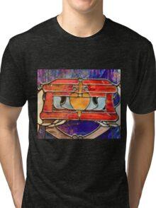 Villain Evil Queen Heart Box Huntsman Snow White Tri-blend T-Shirt