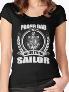 Proud Dad of A United States Sailor Women's Fitted Scoop T-Shirt