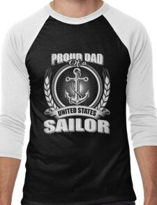 Proud Dad of A United States Sailor Men's Baseball ¾ T-Shirt