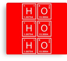 Ho Ho Ho Physics Christmas formula Canvas Print