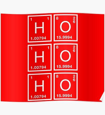 Ho Ho Ho Physics Christmas formula Poster