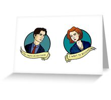 X-Files, Mulder + Scully Greeting Card