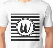 W Striped Monogram Unisex T-Shirt