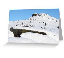 Winter Walk up Bennachie Greeting Card