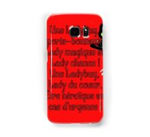 Miraculous Ladybug Lyrics Samsung Galaxy Case/Skin