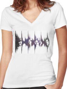 Led Zeppelin  Women's Fitted V-Neck T-Shirt