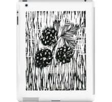 Berries Print (Black) iPad Case/Skin