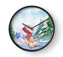Winter Bear Clock