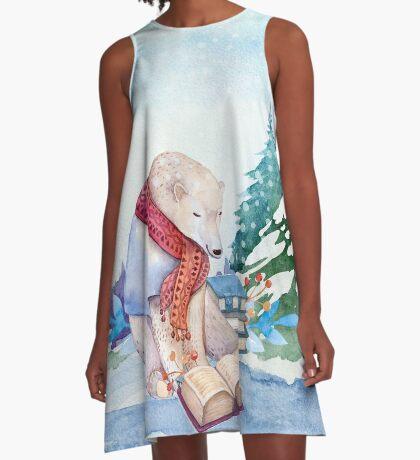 Winter Bear A-Line Dress