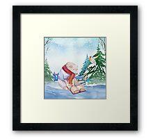 Winter Bear Framed Print