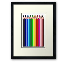 Colored Pencils, Crayons Framed Print