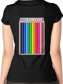 Colored Pencils, Crayons Women's Fitted Scoop T-Shirt