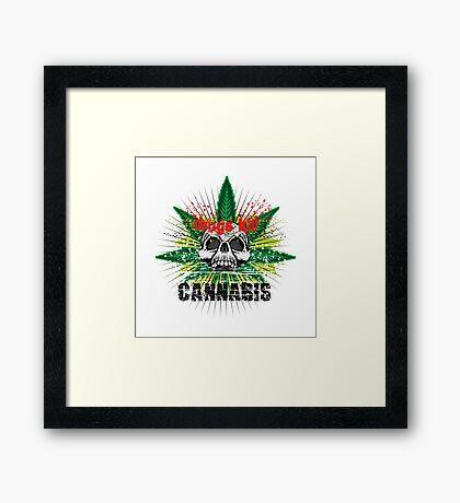 CANNABIS DONT DO DRUGS SKULL Framed Print