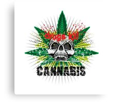 CANNABIS DONT DO DRUGS SKULL Canvas Print