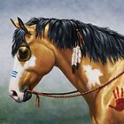 Buckskin Pinto Native American War Horse by csforest