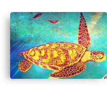 Beautiful Sea Turtle Painting  Canvas Print
